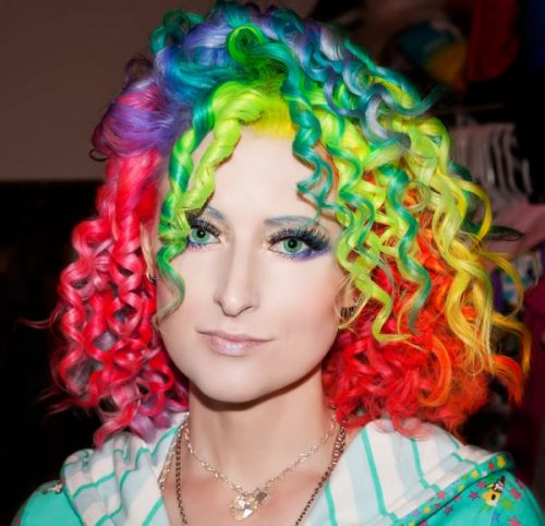 rainbow hair cabelo cacheado
