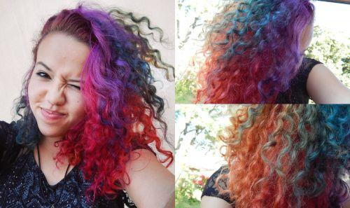 rainbow hair crespo