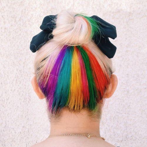 rainbow hair estilo na nuca como fazer