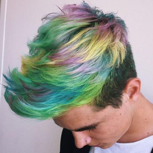 rainbow hair homens