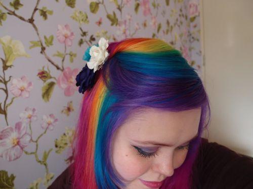 rainbow hair inteiro como fazer