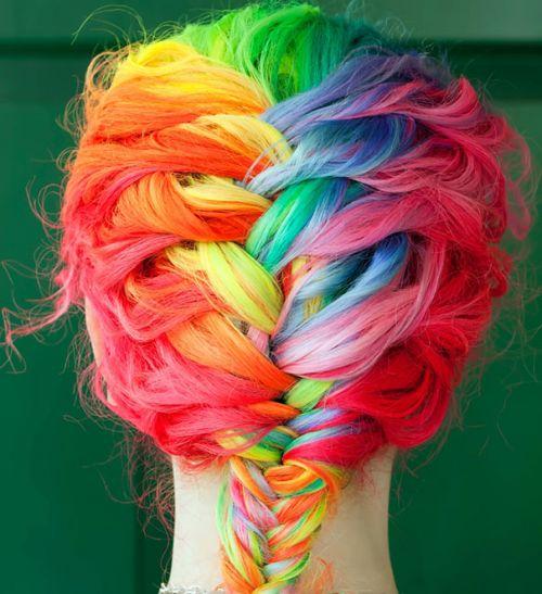 rainbow hair inteiro