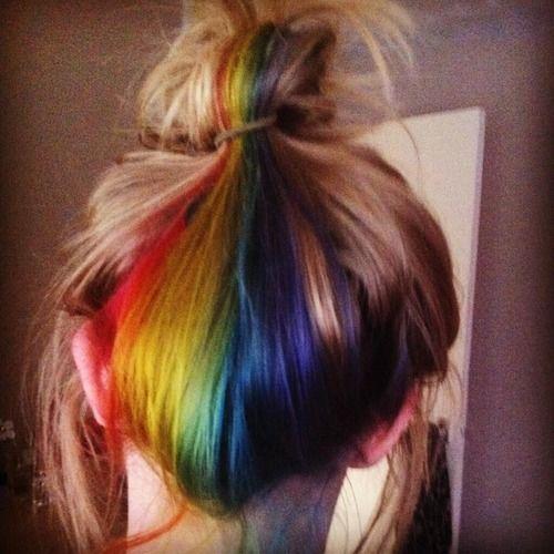 rainbow hair na nuca