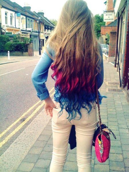 rainbow hair nas pontas
