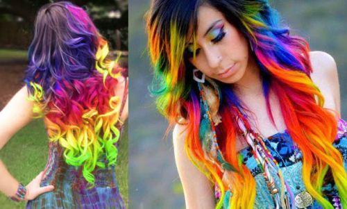 cabelo arco-íris/rainbow hair passo a passo