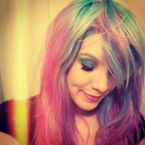 rainbow hair pastel marimoon