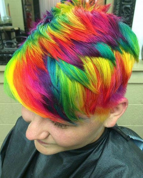 rainbow hair todo no cabelo