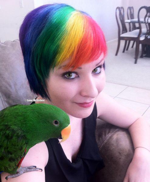 rainbow hair total