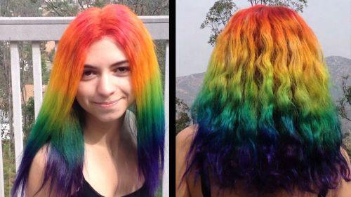 rainbow inteiro cabelo