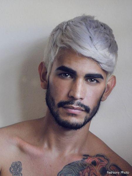 silver hair man