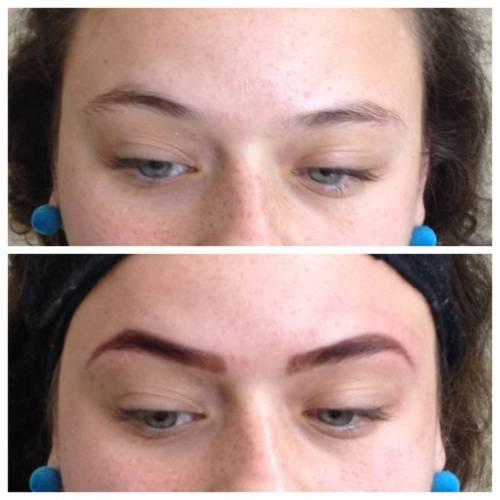 sobrancelha de henna antes e depois