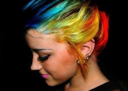 total rainbow hair