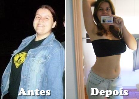 antes e depois shake para emagrecer