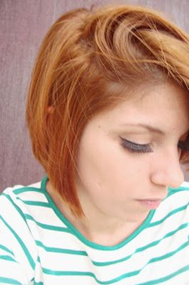 cabelo tingido ruivo