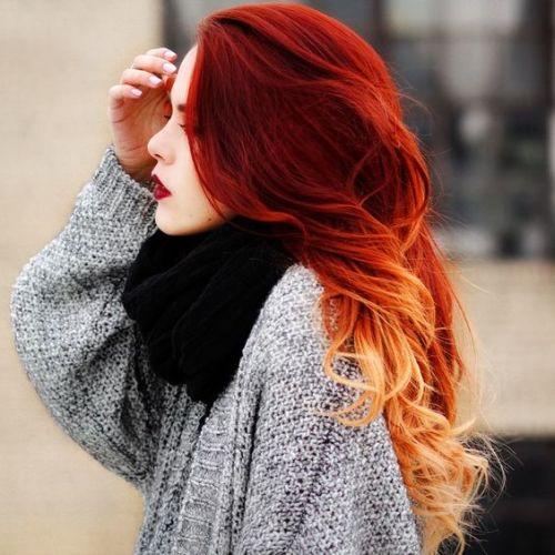 cabelo vermelho degradê
